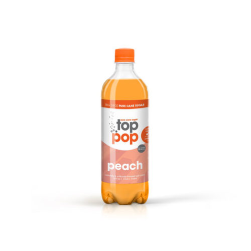 Pure Cane Sugar Top Pop Peach