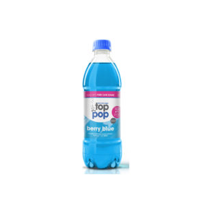 Pure Cane Sugar Top Pop Berry Blue Soda