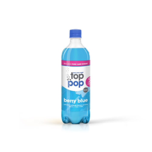 Pure Cane Sugar Top Pop Berry Blue Soda