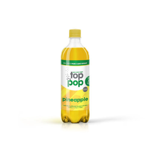 Pure Cane Sugar Top Pop Pineapple Soda
