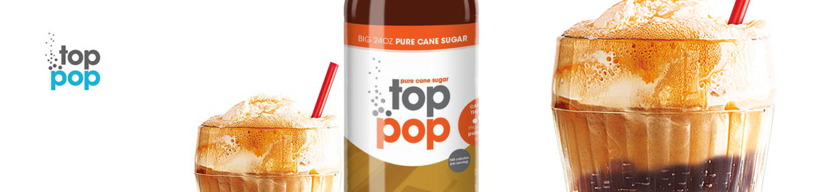 Top Pop Root Beer flavored soda's