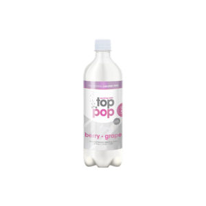 Top Pop Sparkling Seltzer Water Raspberry Grape 24oz