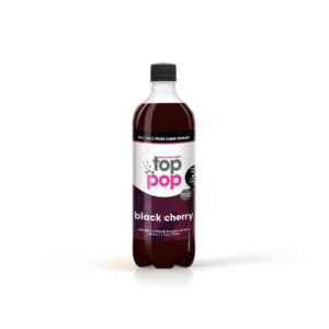 Pure Cane Sugar Top Pop Black Cherry Soda