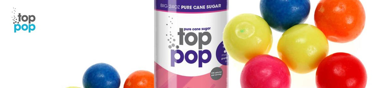 Pure Cane Sugar Top Pop Bubble Gum Soda