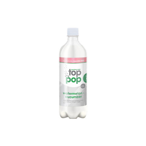 Top Pop Sparkling Seltzer Water Cucumber Watermelon