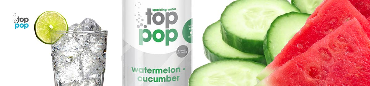 Top Pop Cucumber Watermelon flavored soda's