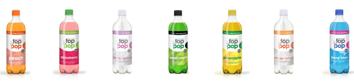 Pure Cane Sugar Top Pop Fruit Flavor