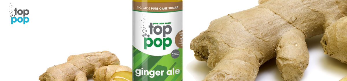 Top Pop Ginger Ale flavored soda's