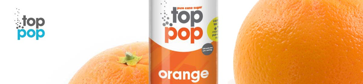 Pure Cane Sugar Top Pop Orange Soda