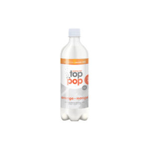 Top Pop Sparkling Seltzer Water Orange Mango