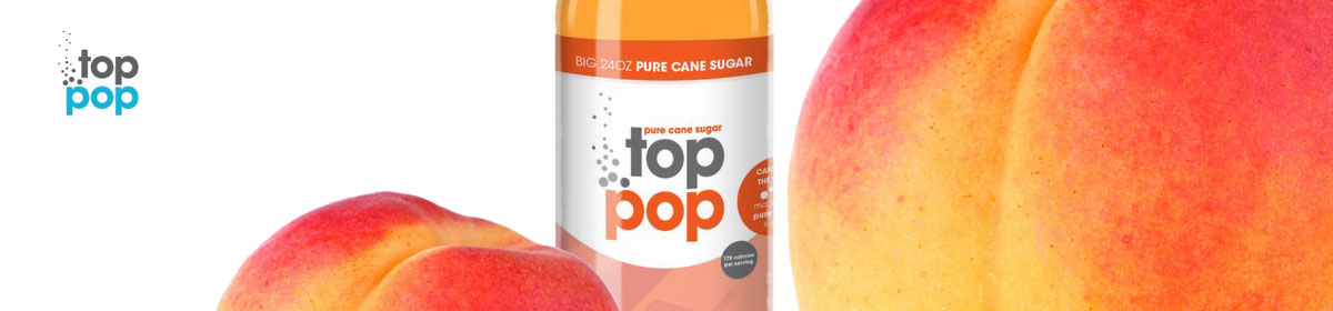 Top Pop Peach flavored soda's