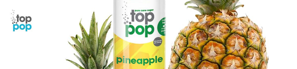 Pure Cane Sugar Top Pop Pineapple Soda