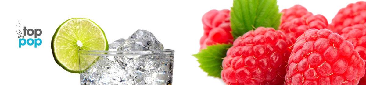 Top Pop Raspberry flavored soda's