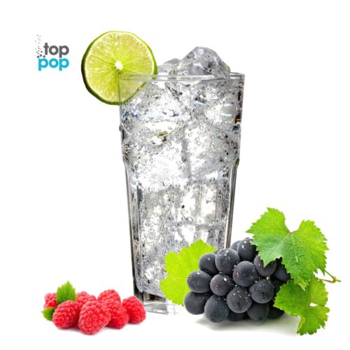 Top Pop Sparkling Seltzer Water Raspberry Grape
