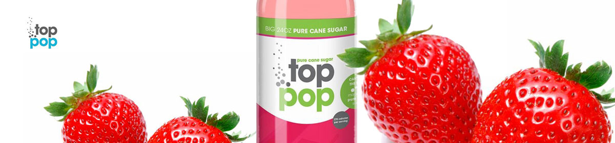 Top Pop Strawberry flavored soda's