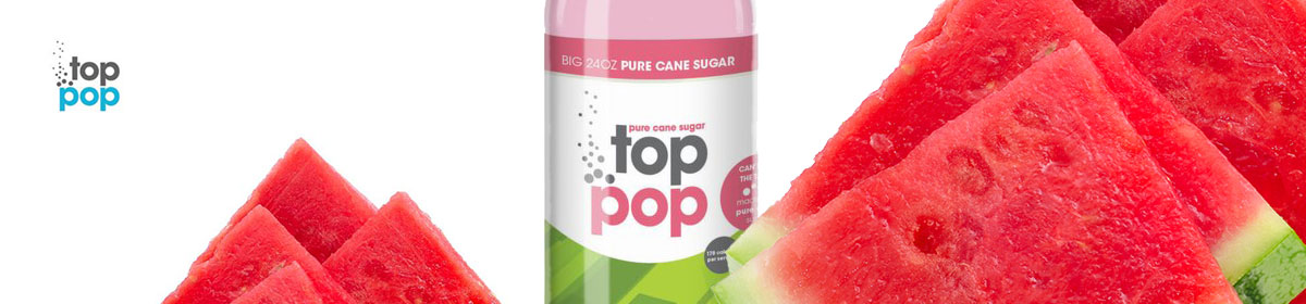 Top Pop Watermelon flavored soda's