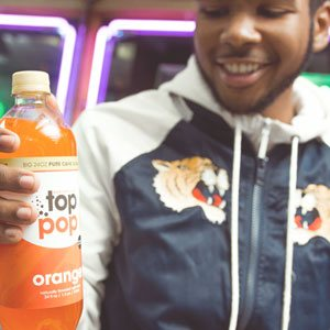 Top Pop Orange Soda