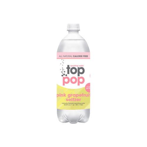 Top Pop Sparkling Seltzer Water Pink Grapefruit 1 Liter