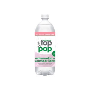 Top Pop Sparkling Seltzer Water Watermelon Cucumber 1 Liter
