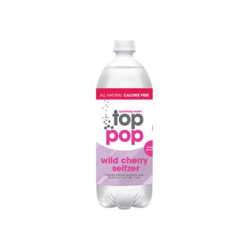Top Pop Sparkling Seltzer Water Wild Cherry 1 Liter
